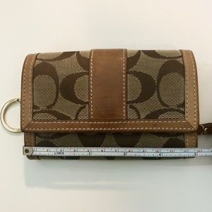 Coach Monogram Small Canvas + Mini Leather Wallet